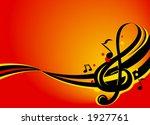 illustration of music notes | Shutterstock .eps vector #1927761