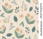 Cute Seamless Floral Pattern...