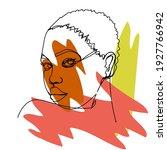 black girl. hand draw outline... | Shutterstock .eps vector #1927766942