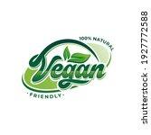 vegan logo collection design... | Shutterstock .eps vector #1927772588