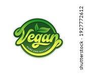 vegan logo collection design... | Shutterstock .eps vector #1927772612