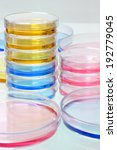 petri plates group stacked on... | Shutterstock . vector #192779045