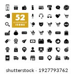 e commerce set vector glyph...