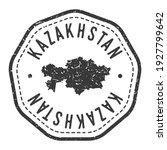 kazakhstan map stamp retro...   Shutterstock .eps vector #1927799642