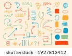 set of various arrows  textures ... | Shutterstock .eps vector #1927813412