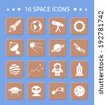 space and astronomy button... | Shutterstock . vector #192781742