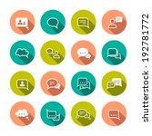 chat message speech talk text...   Shutterstock . vector #192781772