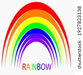 beautiful rainbow bright summer ... | Shutterstock . vector #1927823138