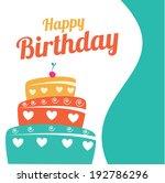birthday design vector... | Shutterstock .eps vector #192786296