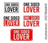 one sided lover set of 5...   Shutterstock .eps vector #1927866845