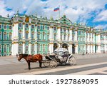 Horse Carriage On Palace Square ...