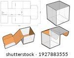 cardboard box for sending mail. ... | Shutterstock .eps vector #1927883555