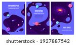 set of templates for flyer ...   Shutterstock .eps vector #1927887542