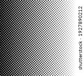 black halftone background with... | Shutterstock .eps vector #1927890212