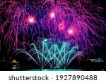 Colourful Fireworks Fill Up The ...