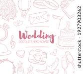 wedding party doodle banner...   Shutterstock .eps vector #1927903262