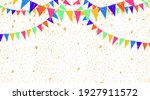colorful party flags and... | Shutterstock .eps vector #1927911572