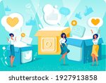 getting more followers and... | Shutterstock .eps vector #1927913858