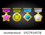 gold awards with precious... | Shutterstock .eps vector #1927914578