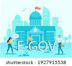 e gov. online government ... | Shutterstock .eps vector #1927915538