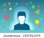 human immune system concept.... | Shutterstock .eps vector #1927921475