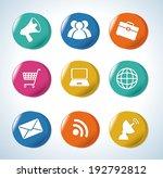 marketing design over blue... | Shutterstock .eps vector #192792812