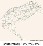 black simple detailed street... | Shutterstock .eps vector #1927930592