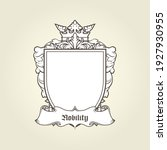 blank template of coat of arms  ... | Shutterstock .eps vector #1927930955