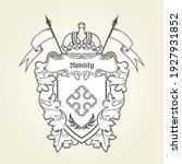 heraldic emblem   royal coat of ... | Shutterstock .eps vector #1927931852