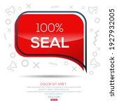 creative  100  seal  text... | Shutterstock .eps vector #1927932005