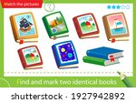find and mark two identical... | Shutterstock .eps vector #1927942892