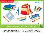 find and mark two identical... | Shutterstock .eps vector #1927942922