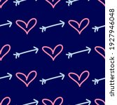 seamless pattern with hearts... | Shutterstock .eps vector #1927946048