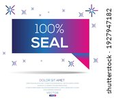 creative  100  seal  text... | Shutterstock .eps vector #1927947182