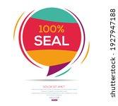 creative  100  seal  text... | Shutterstock .eps vector #1927947188