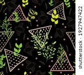 natural vector seamless pattern ... | Shutterstock .eps vector #1927947422