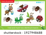 find and mark two identical... | Shutterstock .eps vector #1927948688