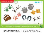 find and mark two identical... | Shutterstock .eps vector #1927948712