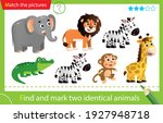 find and mark two identical... | Shutterstock .eps vector #1927948718