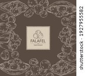 background with falafel ... | Shutterstock .eps vector #1927955582