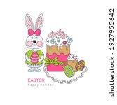 easter holiday. vector... | Shutterstock .eps vector #1927955642