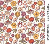 floral pattern   hand drawn... | Shutterstock .eps vector #1927956362
