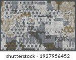 artistic ikat pattern design  ... | Shutterstock .eps vector #1927956452
