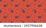 bandana print. vector seamless... | Shutterstock .eps vector #1927956638