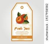 peach jam label for jar of... | Shutterstock .eps vector #1927958582