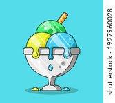 ice cream in a cup cartoon... | Shutterstock .eps vector #1927960028