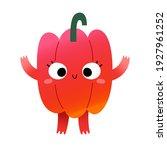 cute vegetable character  sweet ... | Shutterstock .eps vector #1927961252