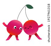 cute cherry berry characters in ... | Shutterstock .eps vector #1927961318