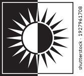 black and white divided sun... | Shutterstock .eps vector #1927961708