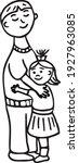 loving father hugs little... | Shutterstock .eps vector #1927963085